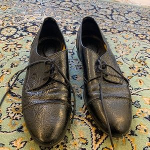 1937 Footwear Lace Up Black Leather Oxford Shoes